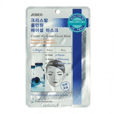 Тканевая маска с гиалуроновой кислотой MIJIN Junico Crystal All-in-one Facial Mask Hyaluronic Acid (25г)