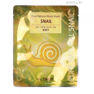 Восстанавливающая тканевая маска с муцином улитки THE SAEM Pure Natural Mask Sheet Snail (20мл)